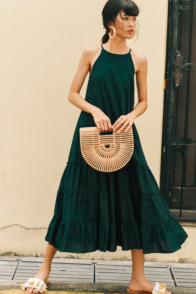 CARRINGTON MAXI IN MOSS GREEN