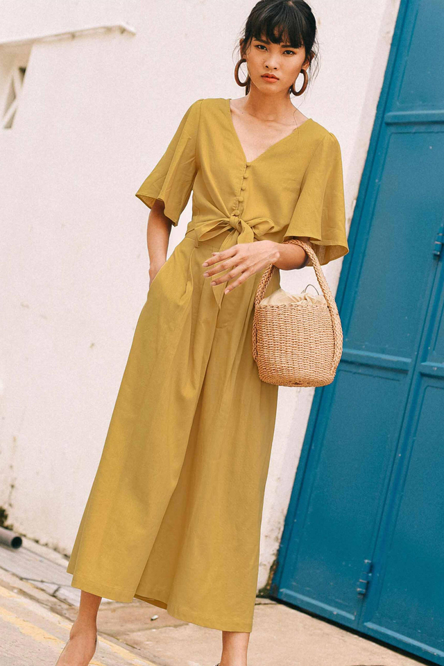 HELGA WIDE LEG PANTS IN MUSTARD