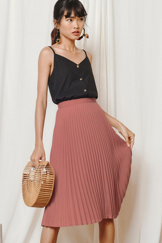 KELLY PLEATED MIDI IN ROSE PINK