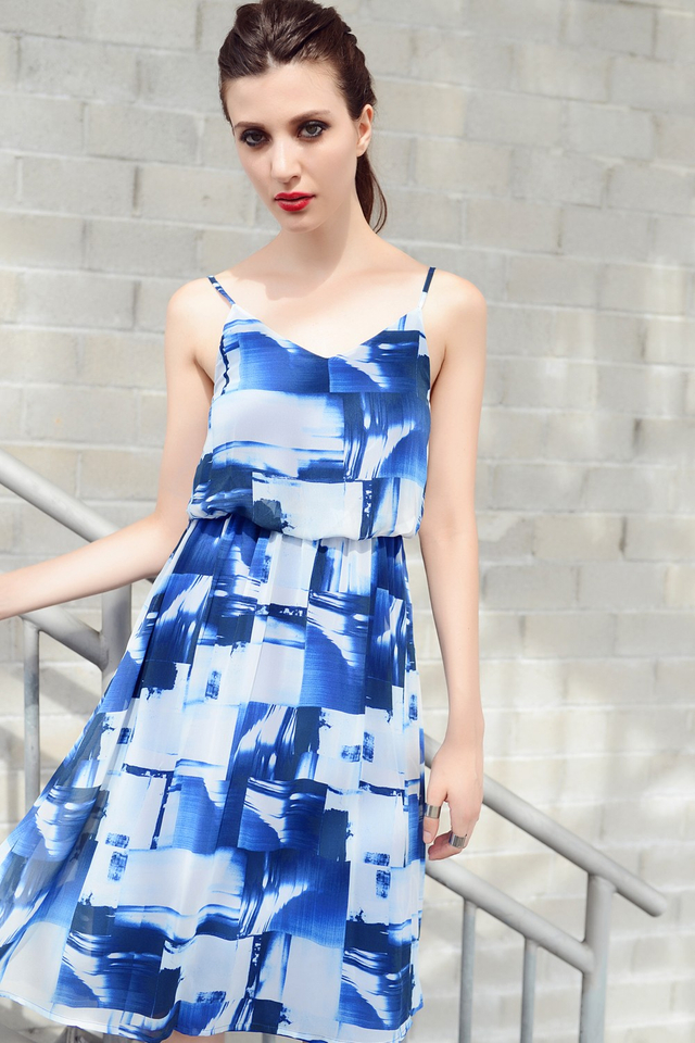 *BRIDGE* Moonlight Dress in Blue