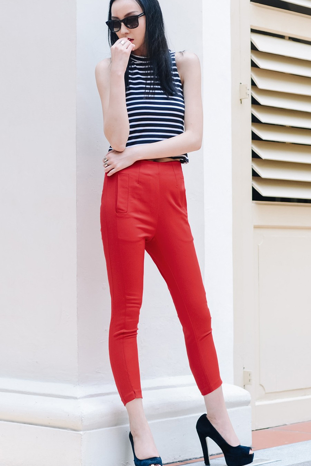 *BRIDGE* Maddie Chinos in Red
