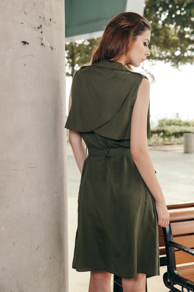 *BRIDGE* Raider Trench Vest in Military Green