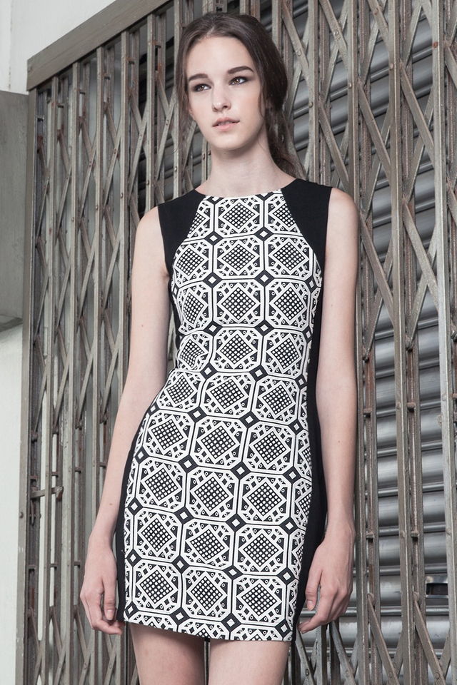 *BRIDGE* Carpe Dress in Monochrome