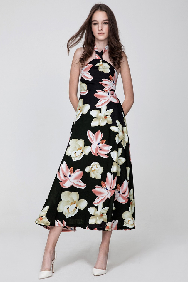 *BRIDGE* Jardin Maxi in Black