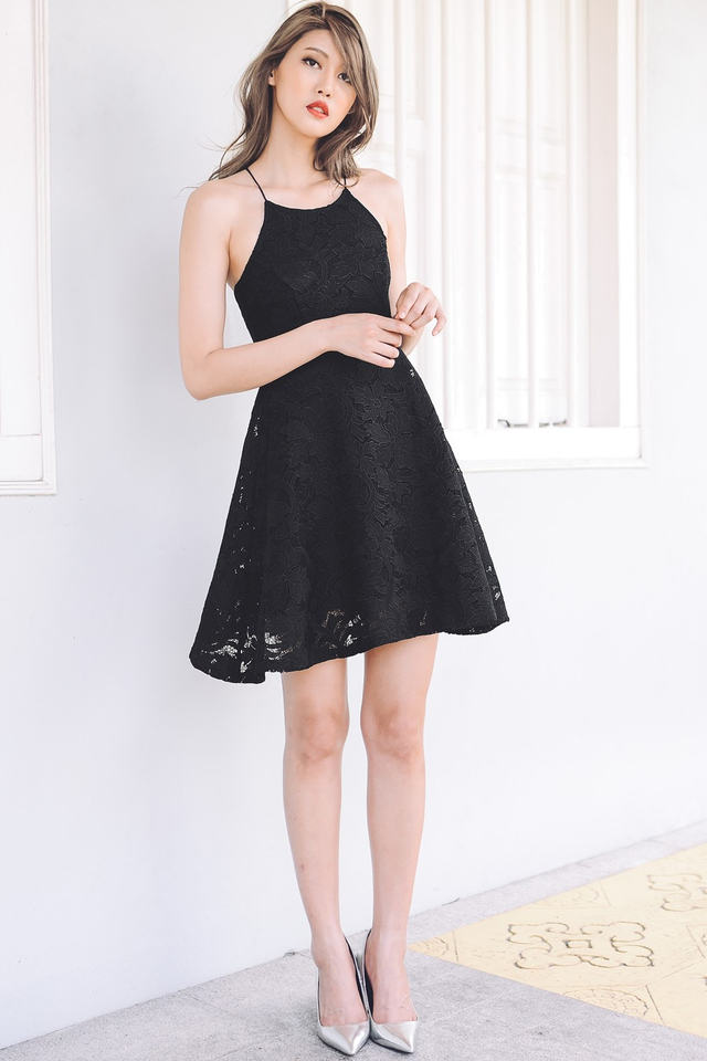 *PREMIUM**BRIDGE* Valentines Dress in Black