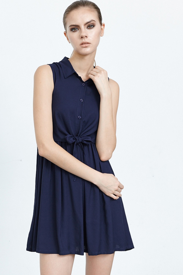 *BRIDGE* Knot It Dress in Navy
