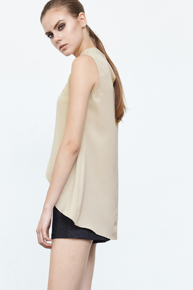*BRIDGE* Cross Front Top in Nude