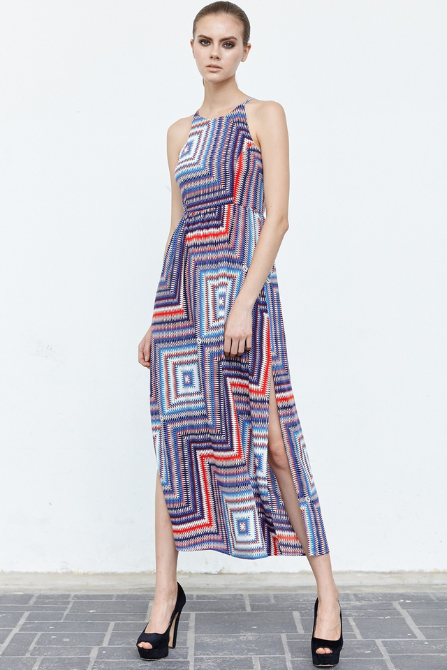 *BRIDGE* Sunday Best Maxi in Red Blue