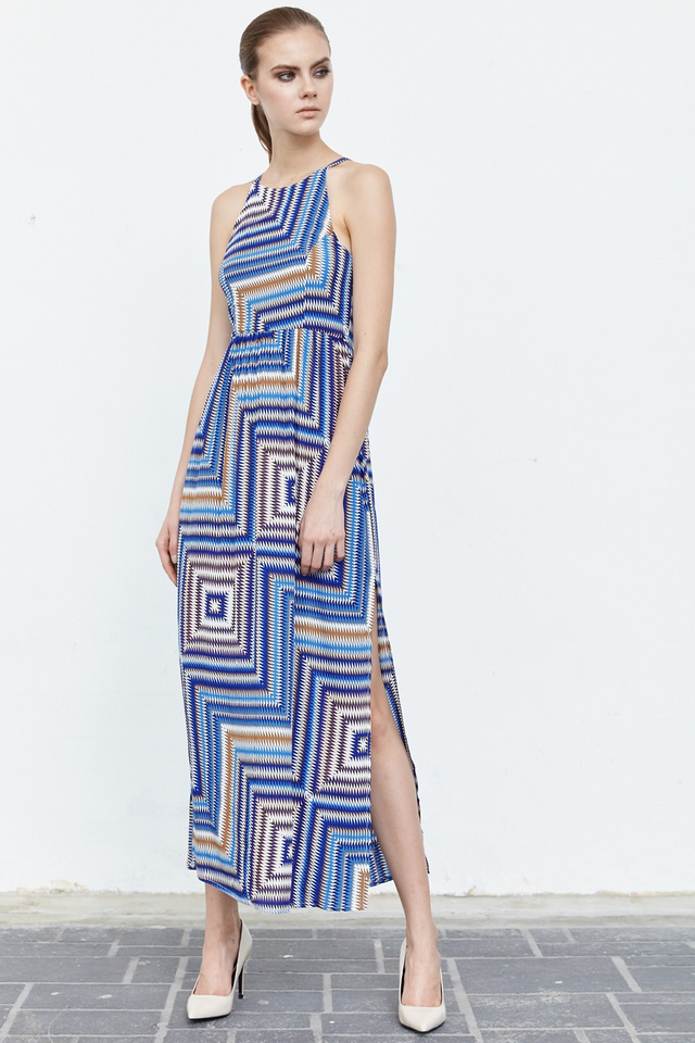*BRIDGE* Sunday Best Maxi in Blue Brown