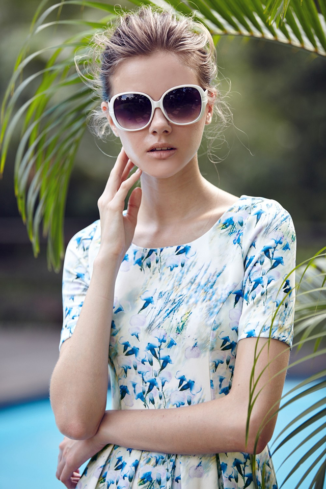 *BRIDGE* Monty Floral Midi in Blue