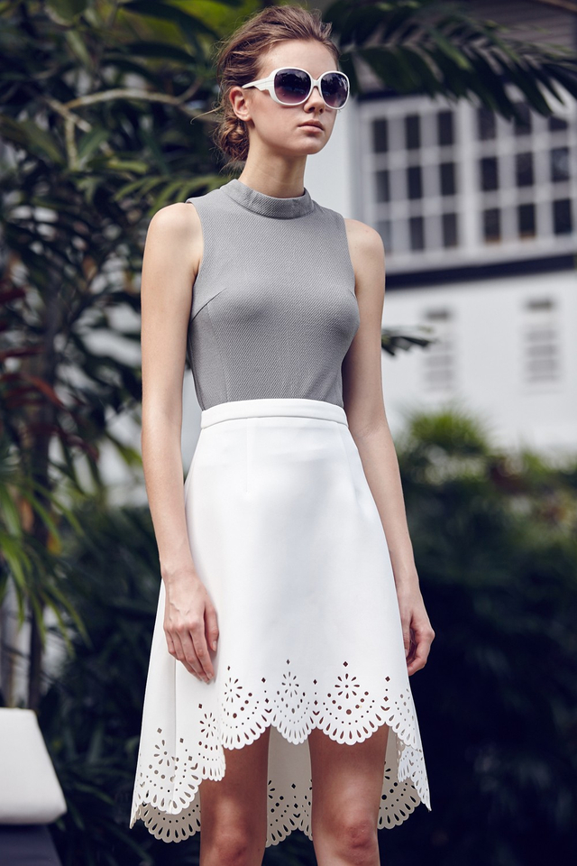 *BRIDGE* Pablo Skirt in White