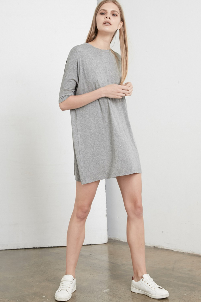 *BRIDGE* Leigh Tee Dress in Grey