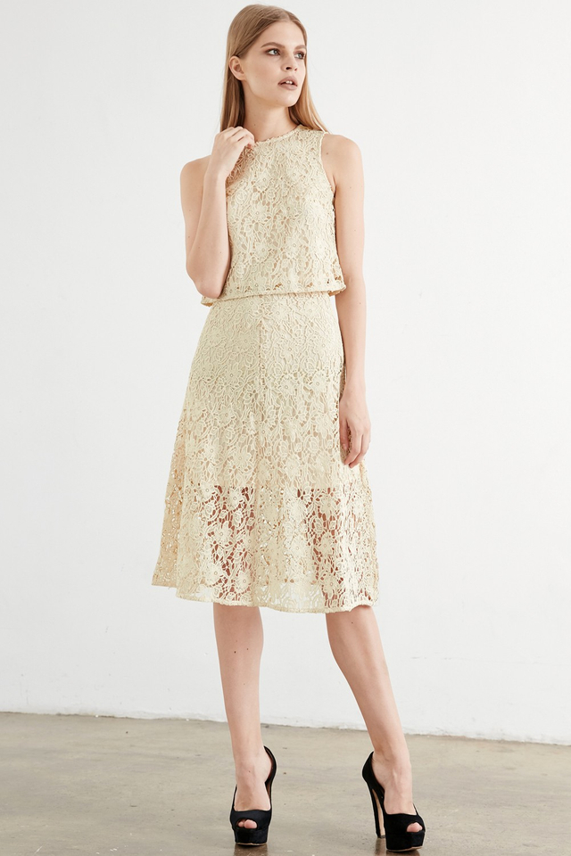 *BRIDGE* Wimbledon Midi in Cream
