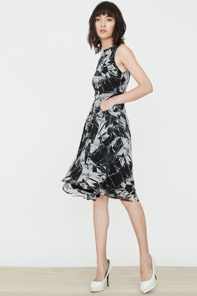 *BRIDGE* Marble Midi Dress
