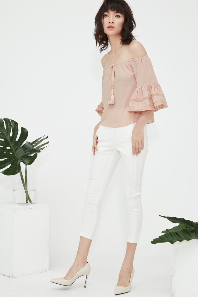 *BRIDGE* Katniss Top in Nude Pink