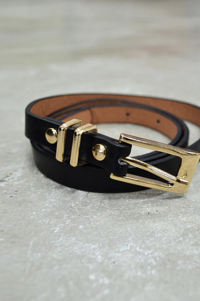 *RESTOCKED**BRIDGE* Double Buckle Thin Belt