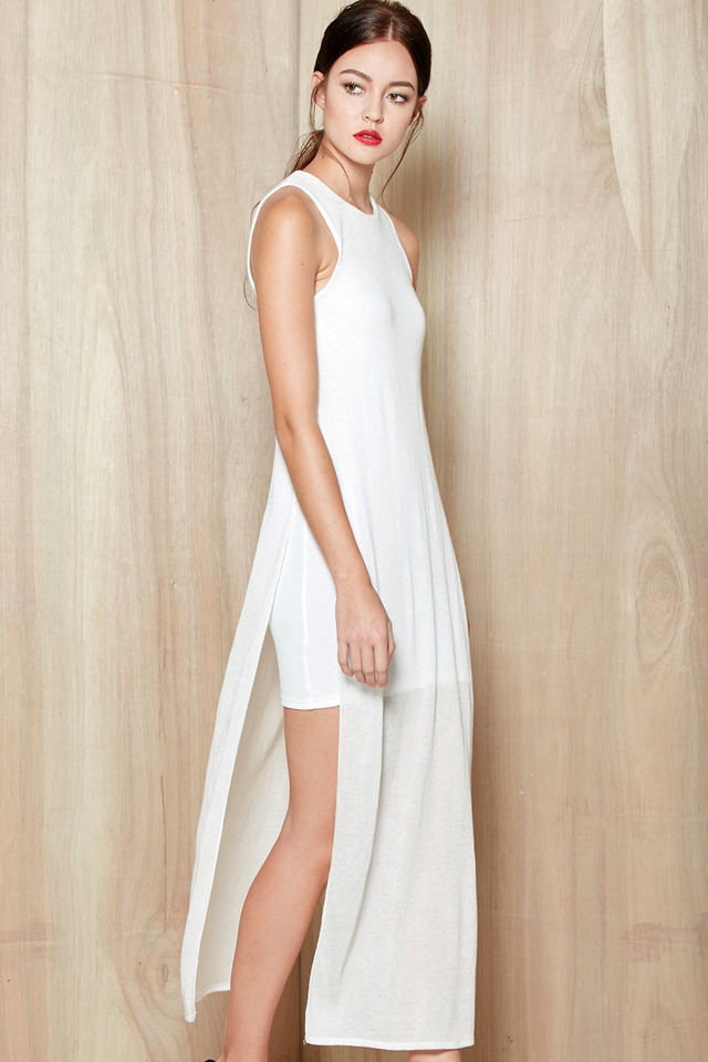 *BRIDGE* Lois Faux Maxi in White