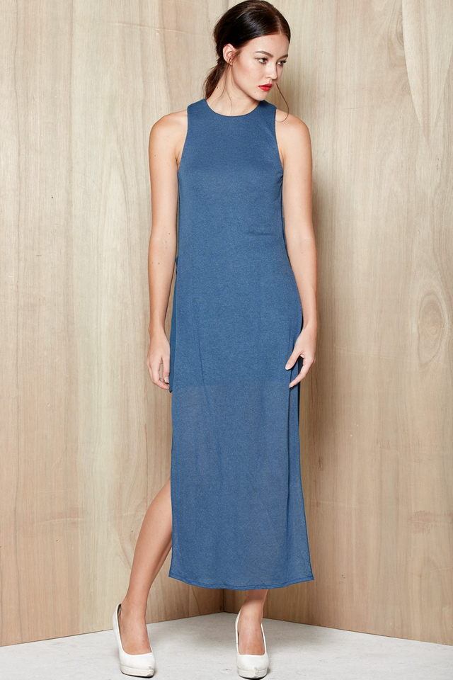 *BRIDGE* Lois Faux Maxi in Valor Blue