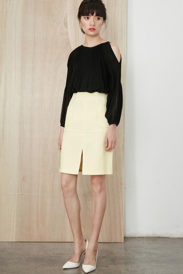 *BRIDGE* Channing A-Line Skirt in Cream