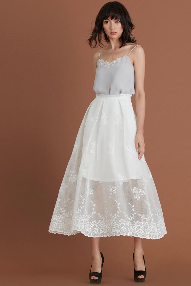 *BRIDGE* Cannes Maxi Skirt in White