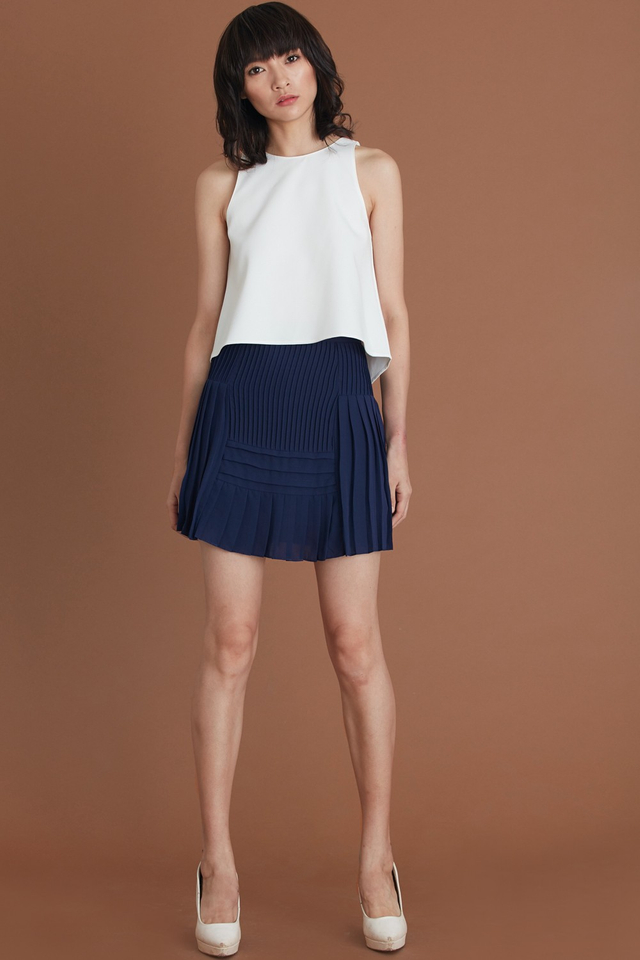 *BRIDGE* Raoul Pleated Skorts in Navy