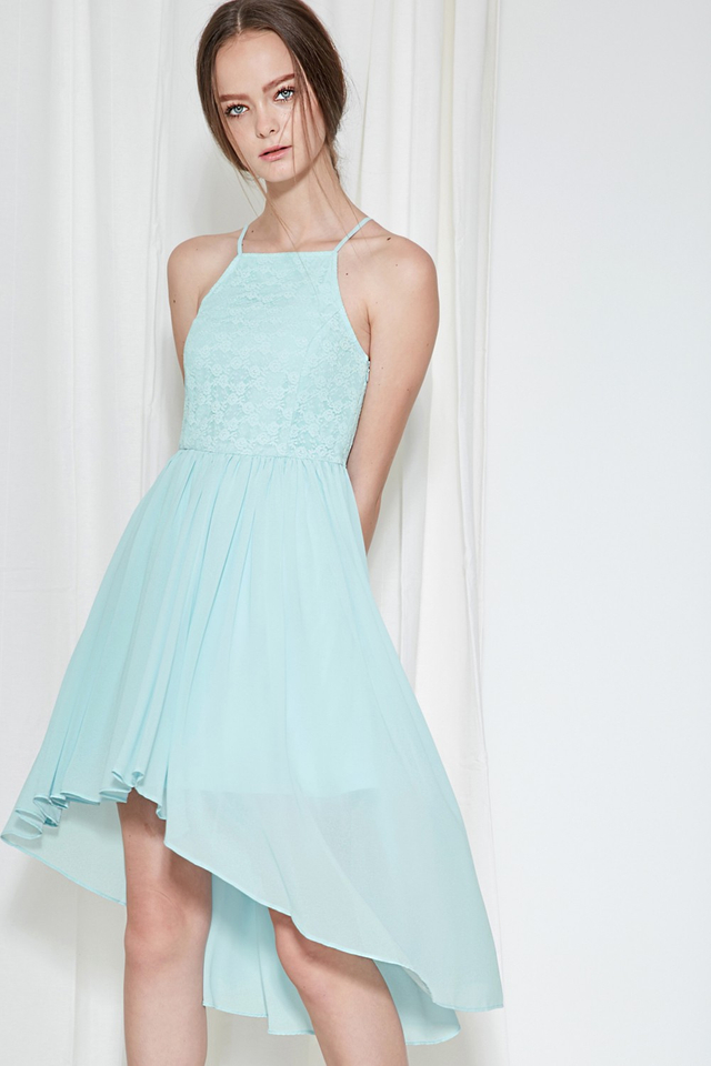 *BRIDGE* Cherish Lace Dress in Powder Blue