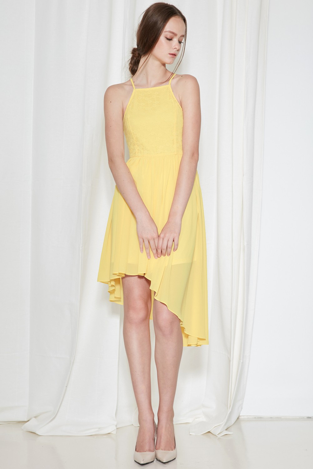 *BRIDGE* Cherish Lace Dress in Pastel Yellow
