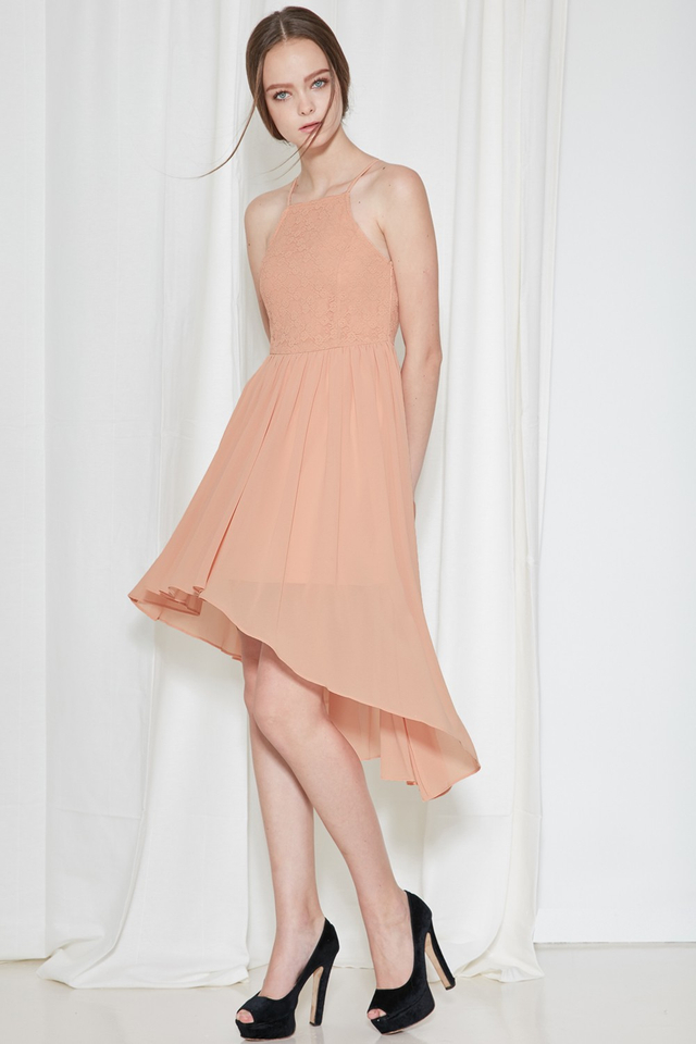 *BRIDGE* Cherish Lace Dress in Blush