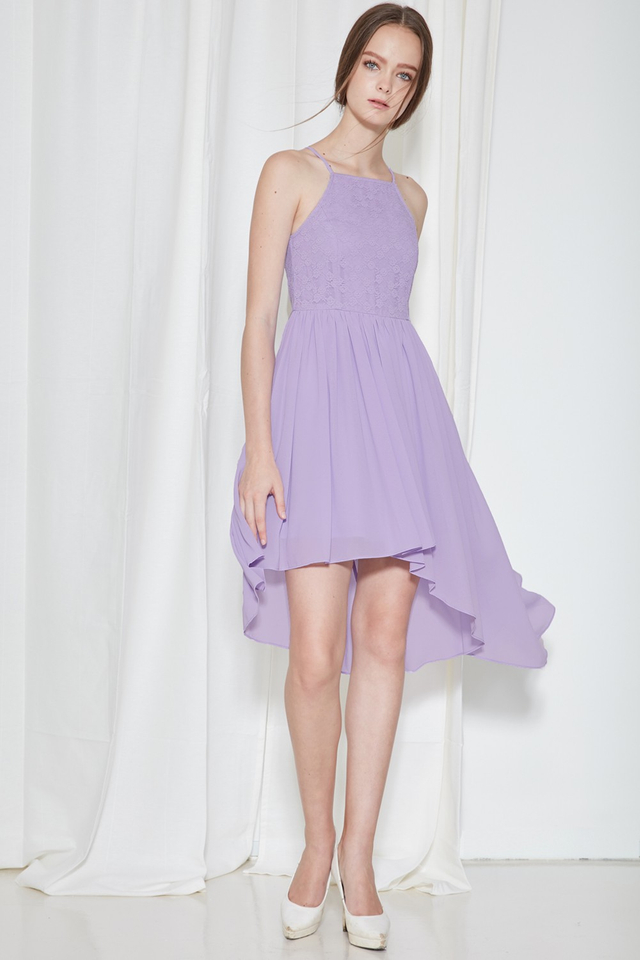 *BRIDGE* Cherish Lace Dress in Lilac