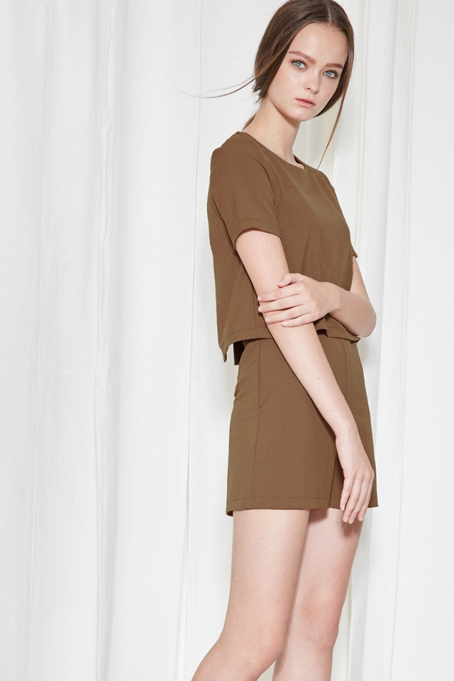 *BRIDGE* Campbell Playsuit in Sepia