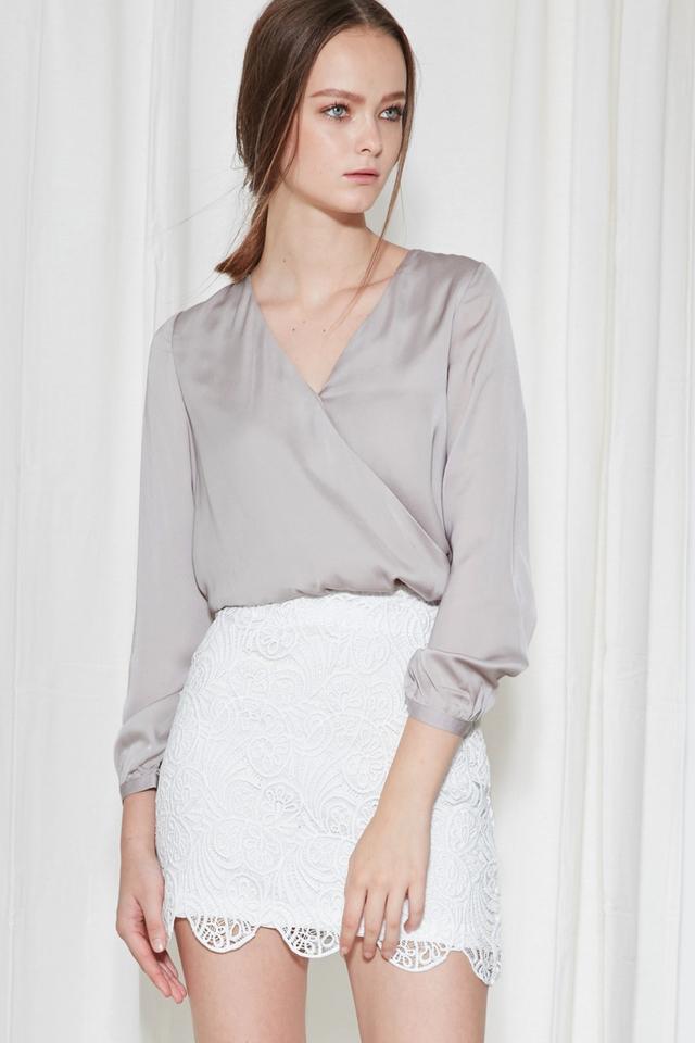*BRIDGE* Avril Skirt in White