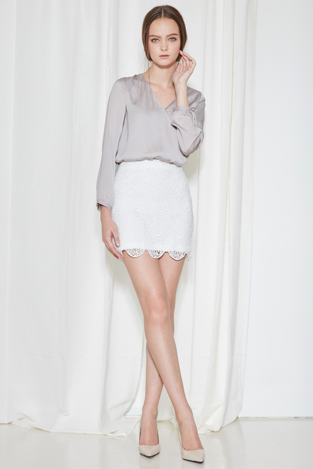 *BRIDGE* Avril Skirt in White