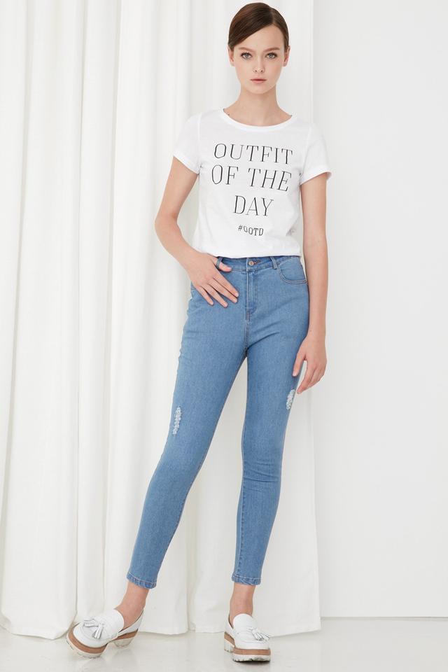 *BRIDGE* OOTD Tee in White
