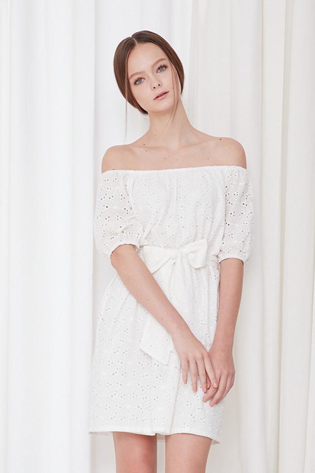 *BRIDGE* Isle Eyelet Dress in White