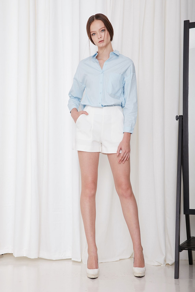 *BRIDGE* Arielle Basic Shirt in Sky Blue