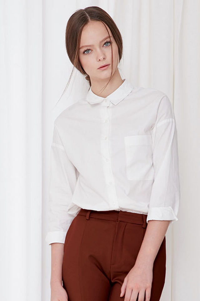 *BRIDGE* Arielle Basic Shirt in White
