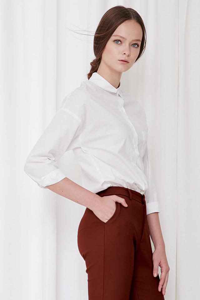 *BRIDGE* Arielle Basic Shirt in White