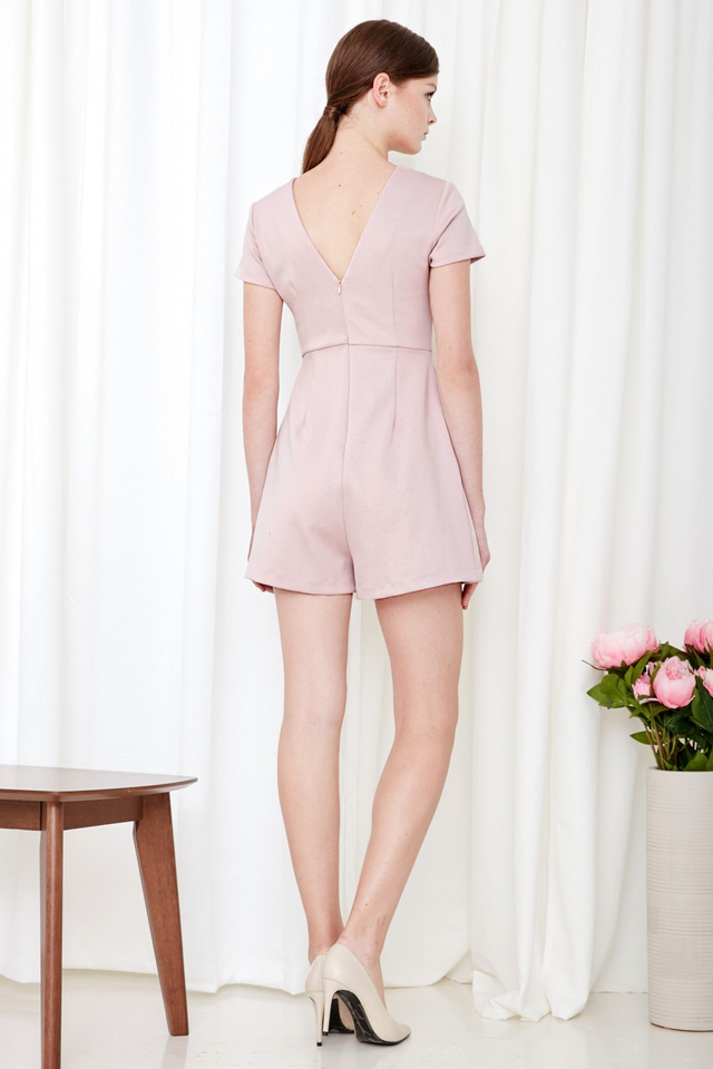 *BRIDGE* Thea Playsuit in Dusk Pink