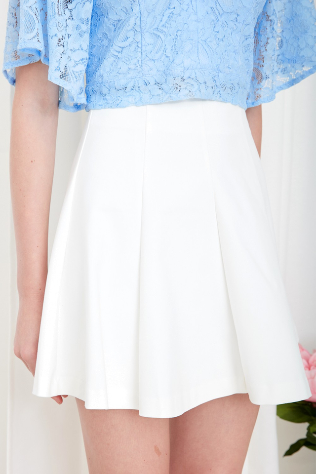 *BRIDGE* Emi Swing Skirt in White