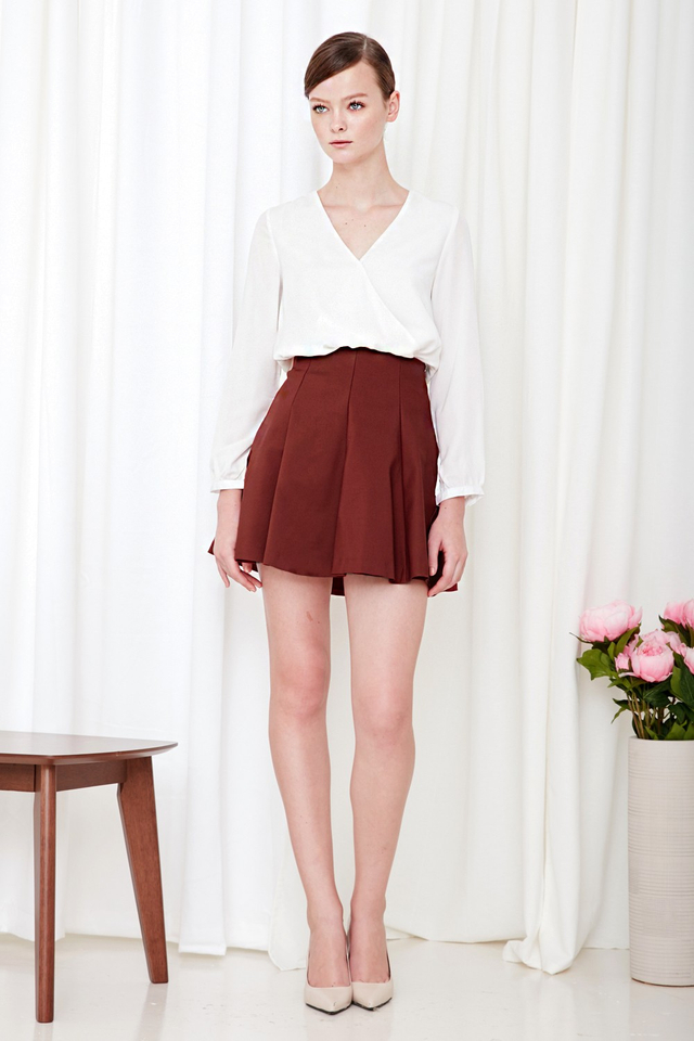 *BRIDGE* Emi Swing Skirt in Fire Brick