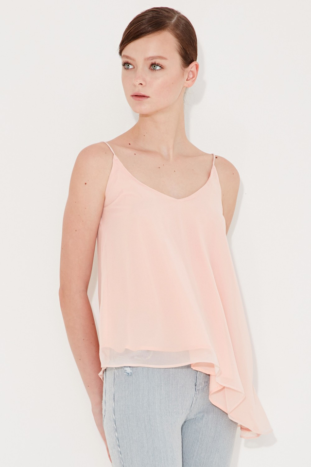 *BRIDGE* Keys Slant Top in Light Pink