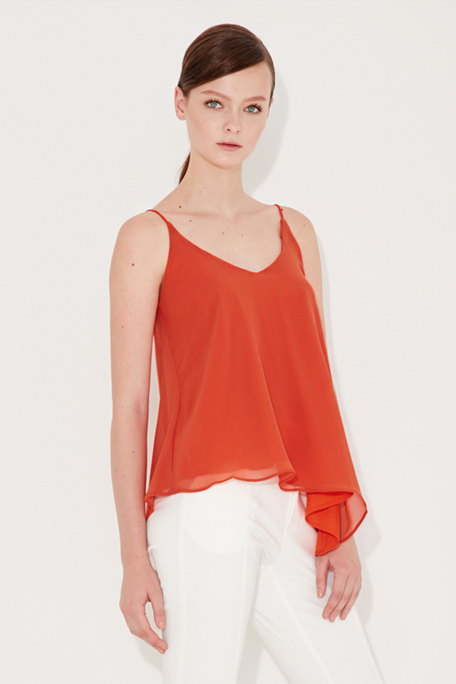 *BRIDGE* Keys Slant Top in Burnt Orange