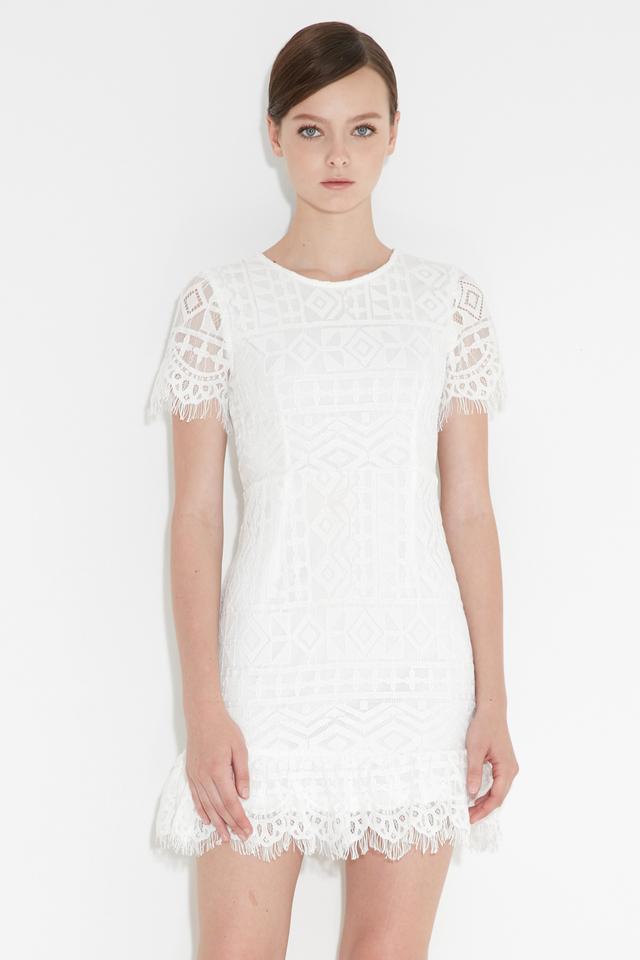 *BRIDGE* Kylee Lace Dress in White