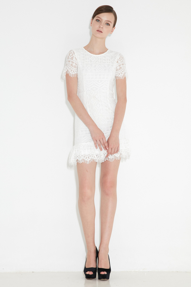 *BRIDGE* Kylee Lace Dress in White