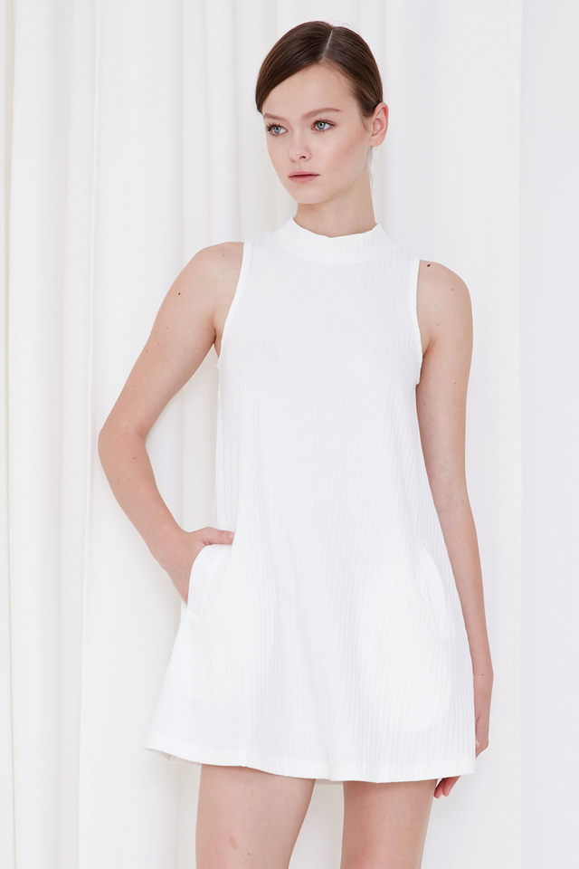 *BRIDGE* Piper Swing Dress in White