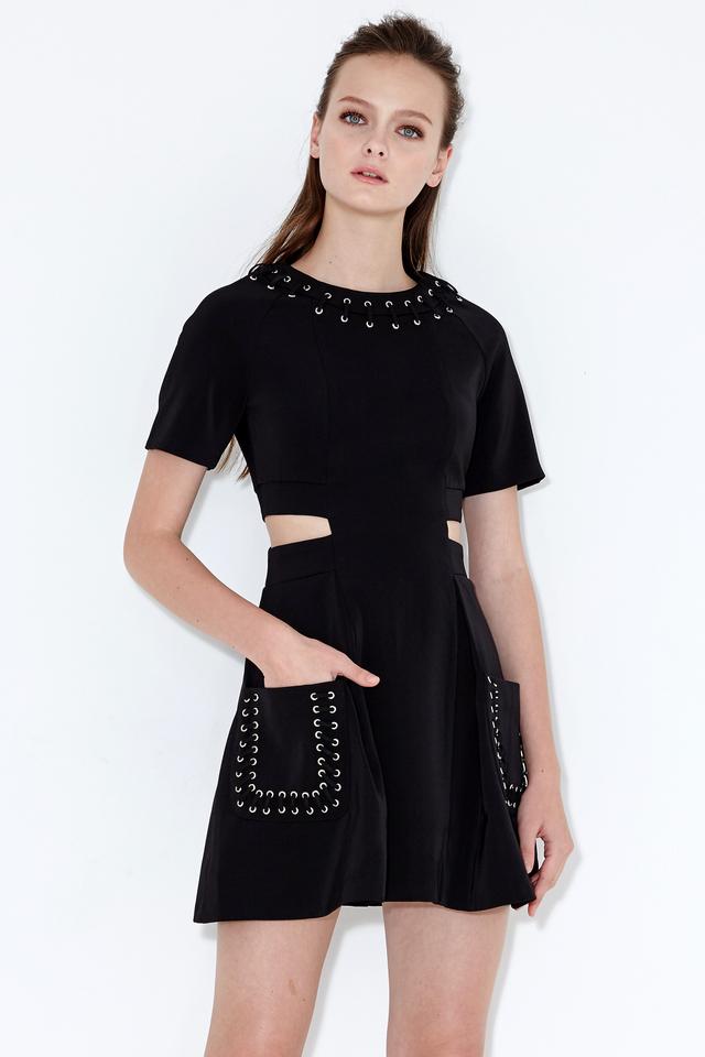 *BRIDGE* Savoy Laced Dress in Black
