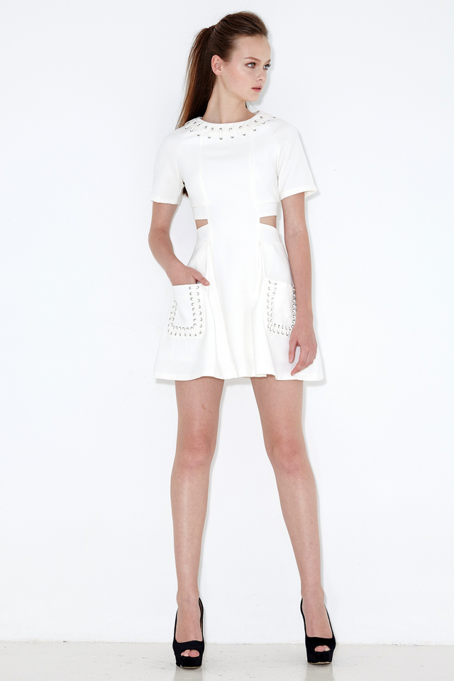 *BRIDGE* Savoy Laced Dress in White