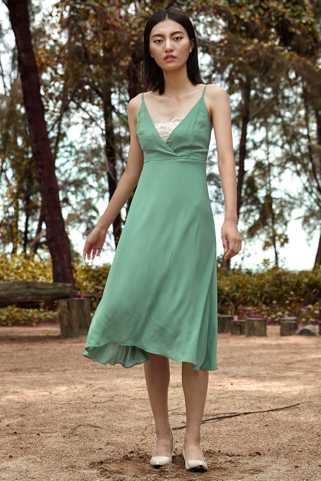 *BRIDGE* Autumn Midi in Jade