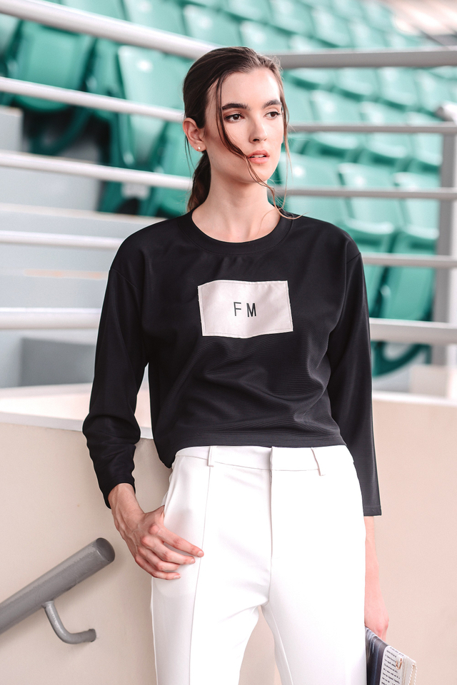 *BRIDGE* FM Sweater in Black