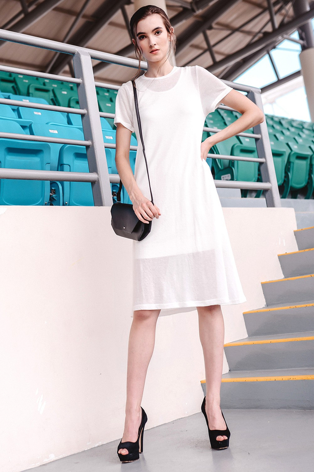 *BRIDGE* Kera Knit Midi in White
